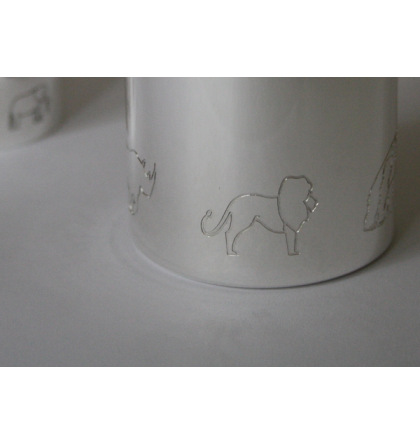 """Coffret timbale et rond """"Animaux"""""""