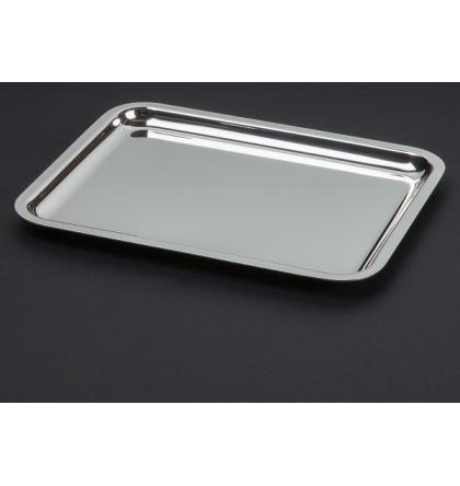 Plateau en métal argenté 45 x 34 cm