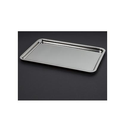 Plateau 36 x 29 cm en métal argenté
