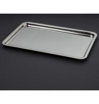 Plateau en métal argenté 30 x 21 cm