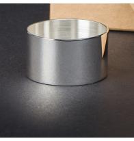 Rond métal argenté à personnaliser