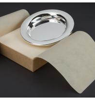 Assiette bébé métal argenté à personnaliser