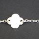 Bracelet fleur en argent