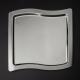 Plateau Swing 32,5 x 32,5 cm en métal argenté