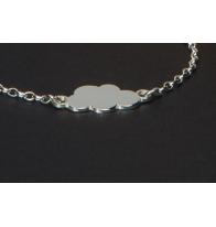 Gourmette bébé en argent nuage