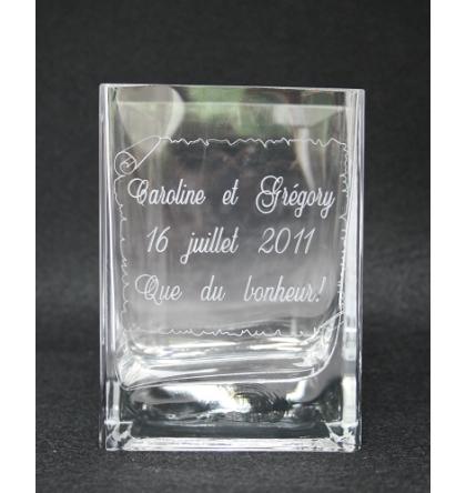 Vase rectangulaire 14 cm
